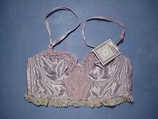 Vintage Oscar de la Renta 01043 Lace Inset Bustier Size 34B in Violet