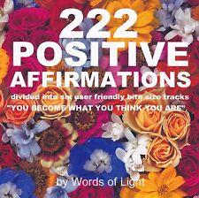 Mind Body Spirit Meditation Audio CD:  222 Positive Affirmations