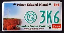 "CANADA "" PRINCE EDWARD ISLAND FIREFIGHTER - WINDMILL "" PEI Graphic License Plate"