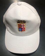 Berretto Baseball Cap Marina Militare Italiana logo Ricamato Bianco OFFERTA