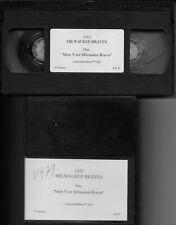 1953 MEET YOUR MILWAUKEE BRAVES  - VHS Cassette