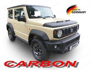 CARBON FIBER LOOK CAR HOOD BRA fits Suzuki Jimny GJ since 2018 NOSE FRONT END
