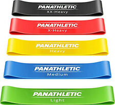Bands Exercise Fitness Set 5 Resistance Loop Guide Latex Bands Carry Bag And New