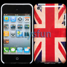 Retro Look Union Jack Britain Flag Hard Cover Case For Apple iPod Touch 4 4G 4TH