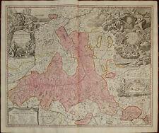 Old map kupferstich Principato Salisburgo Salzburg Austria Homann engraving