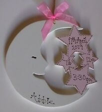 shabby chic personalised new baby boy/girl  plaque christening gift sign