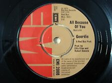 "Geordie All Because Of You A-1 B-1 UK 7"" AC/DC EMI 2008 1973 EX+"