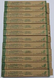 BAMBOO Charcoal enhanced bristle ECO toothbrush CHILD SOFT Environmental 12 PACK