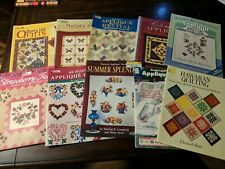 Lot of 10 Assorted Quilting and Applique Quilt Books - Martingale & Others