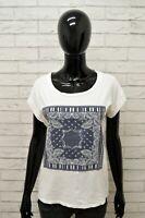 Maglia LIU-JO Donna Taglia M Maglietta Shirt Woman Cotone Bianco Manica Corta