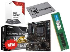 AMD Quad Core Gaming Motherboard CPU Bundle 8GB RAM SSD Windows 10 Pre-Assembled