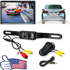 7 LED Car Rear View Reverse Backup Parking Camera Night Vision Waterproof CMOS #