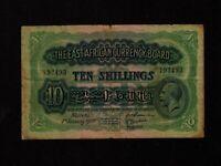 East Africa:P-21,10 Shillings 1933 * King George V * F+ *