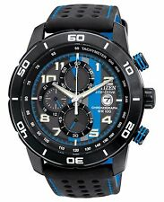 Citizen Eco-Drive Men's CA0467-03E Primo Chronograph Blue and Black Strap Watch