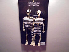 6 Inch Dressed Up Skeletons Prison Outfit Halloween Haunted House Decoration