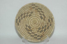 "Antique Papago Bear Grass,devil claw & Yucca  Design tray 8.5"" diameter"