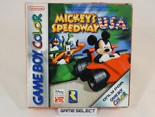 MICKEY'S SPEEDWAY USA TOPOLINO GAME BOY COLOR GBC PAL EUR ITA ITALIANO COMPLETO