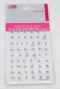 """Clear Stamps """"Alphabet Kleinbuchstaben / Zahlen"""" efco Stempel Ziffern"""