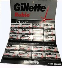 Gillette Rubie Plus Double Edge Razor Blades 100Pcs! FREE SHIPPING!