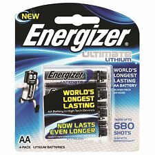 Energizer ULTIMATE LITHIUM BATTERY AA 4Pcs, Extreme Temperature Work *USA Brand