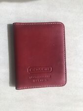 Coach Leather Red Bifold Card Holder