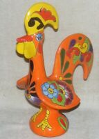 Vintage Mexican Pottery Large Rooster Figure