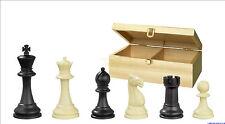 Schachfiguren Nerva Kunststoff KH 95mm gewichtet mit Aufbewahrung