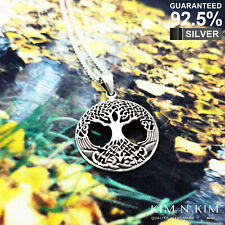 925 Sterling Silver Celtic Knot Pagan Tree of Life Pendant ✔️Solid✔️Quality