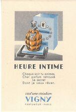 CARTE PARFUMEE HEURE INTIME VIGNY (JAUNE ) -  PERFUME CARD ADVISING