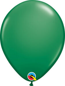 "AUSTRALIA DAY BALLOONS 25 x 11"" QUALATEX GREEN PROFESSIONAL LATEX BALLOONS"
