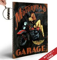 MOTORHEAD GARAGE Retro Poster 30x21cm Vintage Design Art Print Home Wall Decor