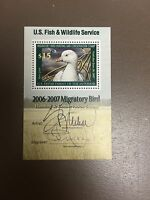US #RW73b $15.00 Ross' Goose Mini Sheet BOTH SIGNATURES Mint Never Hinged
