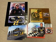 Rusty Wallace Collectible Lot Poster Miller Picture Plaque Card Nascar Vtg