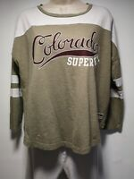 "Superdry ""Colorado"" Khaki Long Sleeve Cotton T-Shirt - Size S (124g)"