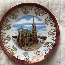 Wien Stephansdom Cathedral Vienna Collectors Plate.