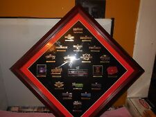 wwe 20 years of wrestlemania commemorative framed  pin set