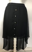 NWT Charlotte Russe Black High Low/Long Back Women Skirt Size Large