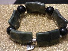 Damenarmband Armband Edelsteine handgefertigt Jaspis & Onyx