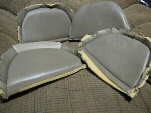 Saab 9000 Anniversary Logo leather seat back peices.