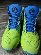 Adidas Rose 3 Green/Lime/Satellite Blue/Black G66387 Athletic Sneakers Size 12
