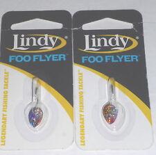 LINDY TACKLE 1/16 Foo hôtesse pêche à la gambe (lot de 2-rainbow / Perche)