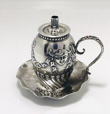 Gorham Belleflower Smiling Devil Masks 1893 Cigar Table Lighter Sterling Silver