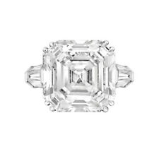 Asscher & Baguette Cut Diamond Engagement Ring 3.12Carat GIA Certified Platinum