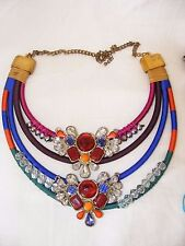 Colours Hand Made Ethnic Style Gorgeous Designer Necklace Bright Rainbow