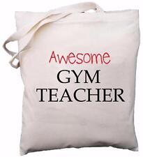 Awesome Gym Teacher - Natural Cotton Shoulder Bag - School Gift