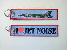Cloth Keyring with I love Jet Noise on front, Vulcan Graphic on reverse