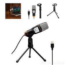 USB Professional Condenser Sound Podcast Studio Microphone For PC Laptop Audio