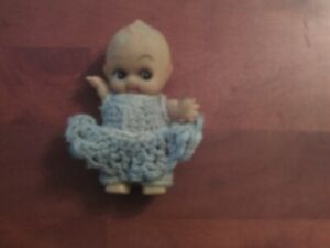Kewpie Doll 4 1/2 in. Tall with Hand-Made Outfit