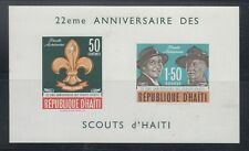 Haiti 1962 Boy Scout MS Sc C195 note  Mint never hinged