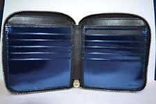 Paul Smith Metallic Blue Interior ZIP BILFOLD Wallet New
